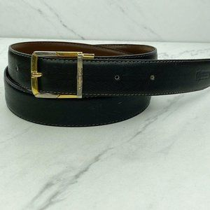 Valentino Orlandi Vintage Black Leather Belt 34